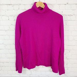 Eileen Fisher Fuchsia Wool Turtleneck Sweater